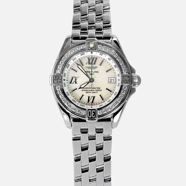 Breitling B-Class Ladies Chronometer VVS Diamond Bezel A67365