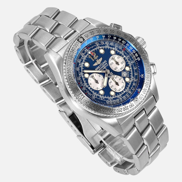 Breitling B2 Chronograph Automatic Blue Dial Watch Ref A42362