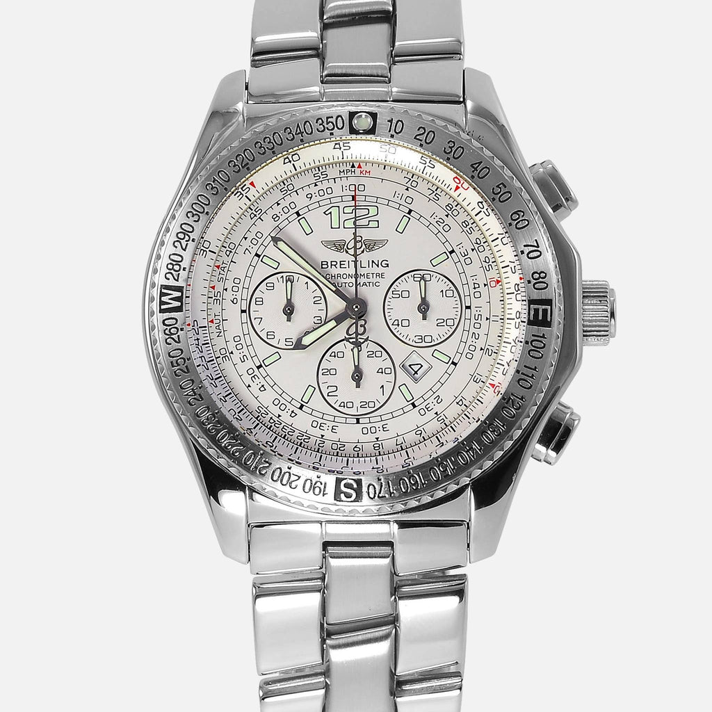 Breitling B2 Chronograph Automatic White Dial A42362
