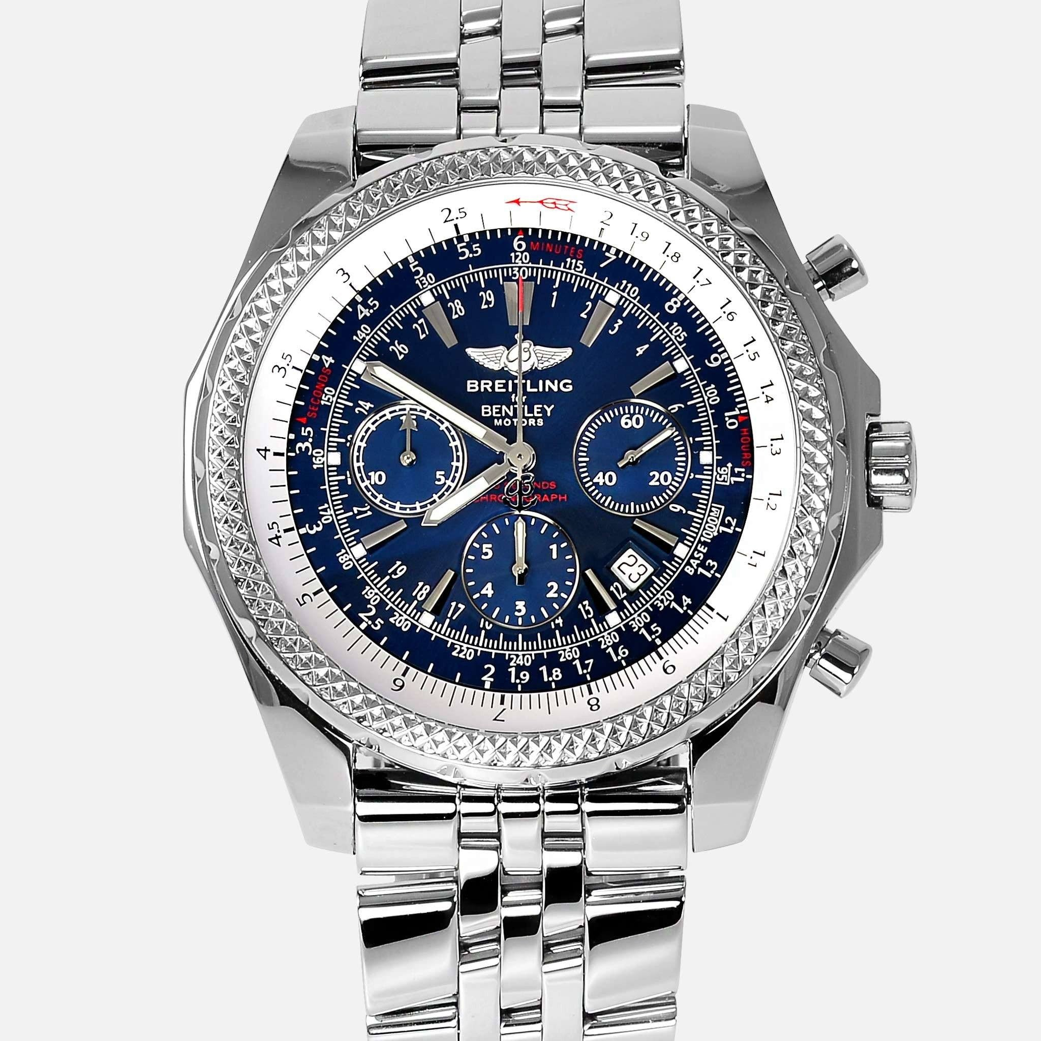 blue topnotch bentley watch edition wow gorgeous special breitling dial
