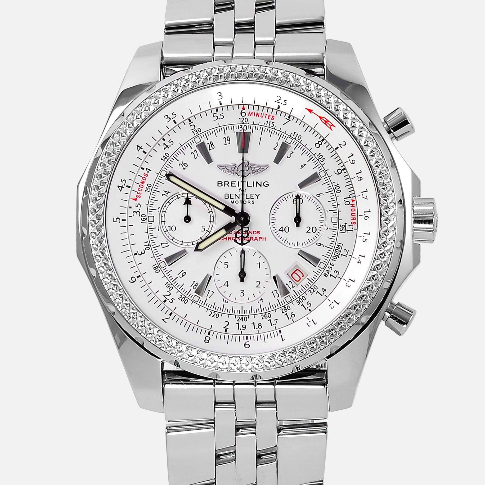 Breitling for bentley motors special white dial edition for Breitling watches bentley motors special edition a25362