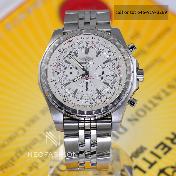 Breitling For Bentley Motors Special Ed. White Dial A25362