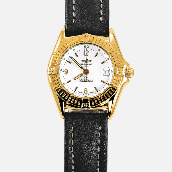 Breitling Callistino Ladies 18K Yellow Gold Watch K52045