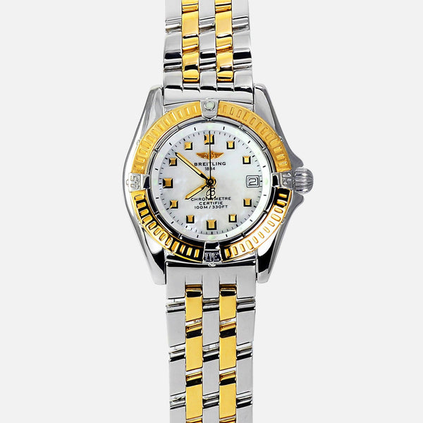 Breitling Callistino 18k Gold/SS Ladies Chronometer MOP D72345 - NeoFashionStore