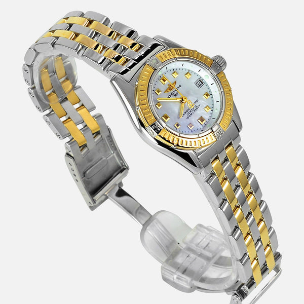 Breitling Callistino 18k Gold/SS Ladies Chronometer MOP D72345