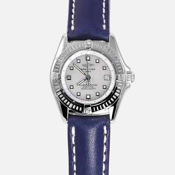 Breitling Callistino Ladies Stainless Steel MOP Watch A52045