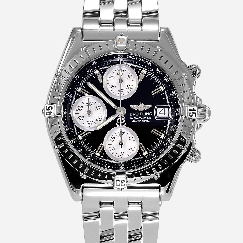 Breitling Chronomat Stainless Steel Black Dial A13050 - NeoFashionStore