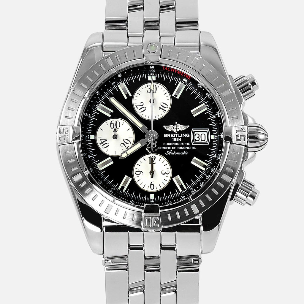 Breitling Chronomat Evolution Black Dial A13356 - NeoFashionStore