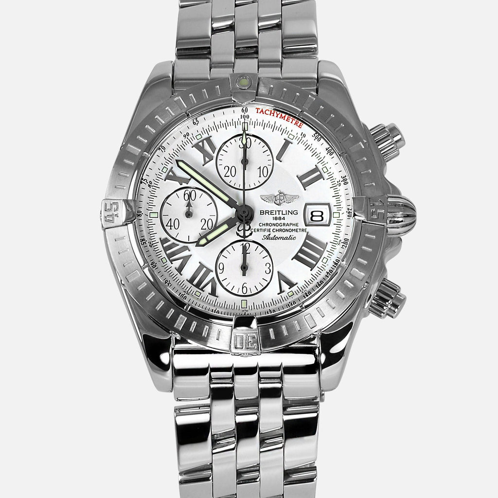 Breitling Chronomat Evolution White Dial A13356 - NeoFashionStore