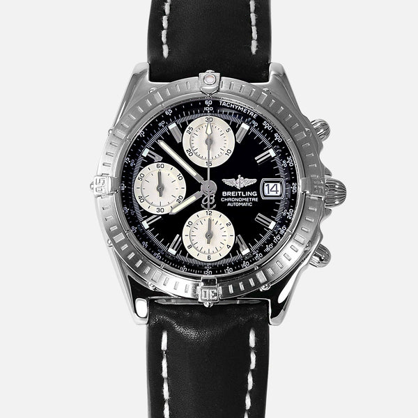 Breitling Chronomat Stainless Steel Black Dial A13352