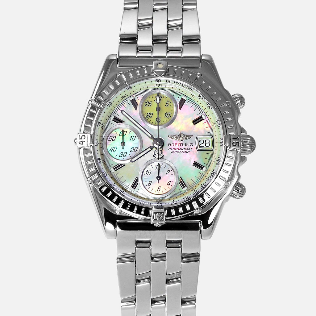 Breitling Chronomat GT MOP Dial Stainless Steel A13050 - NeoFashionStore