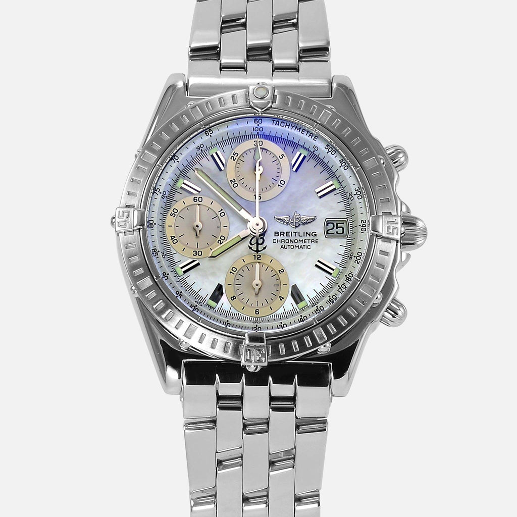 Breitling Chronomat Mother Of Pearl Dial Stainless Steel A13352 - NeoFashionStore