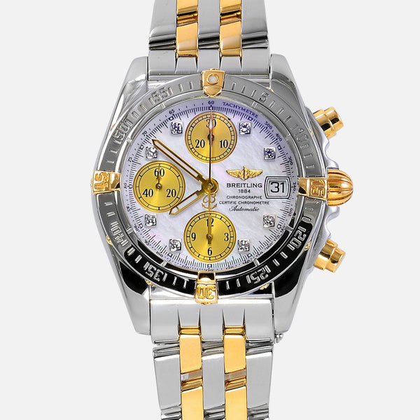 Breitling Cockpit Chrono 18K/SS MOP Diamond Dial B13357 - NeoFashion Store