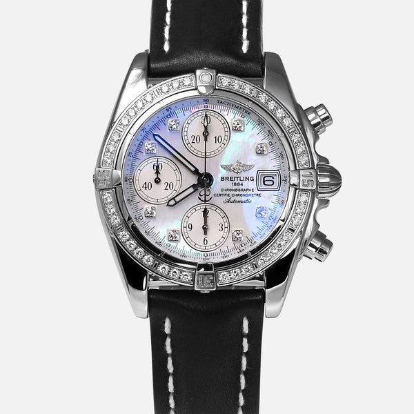 Breitling Cockpit Chronograph MOP Factory Diamond Watch A13357 - NeoFashionStore