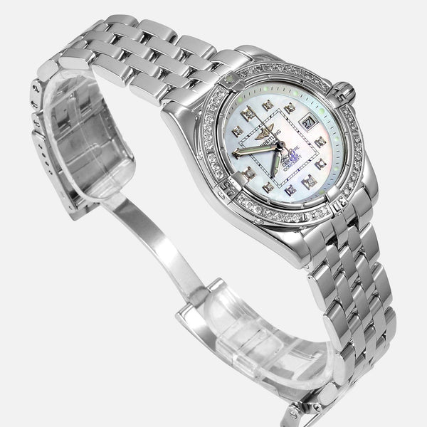 Breitling Cockpit Lady Dimond Bezel MOP Watch A71356 - NeoFashionStore