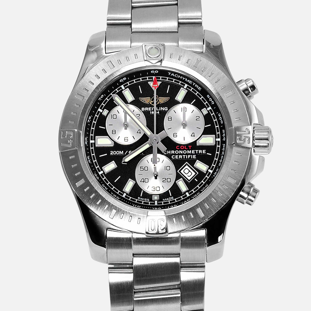 breitling colt chronograph superquartz black dial sports watch a73388 neofashion. Black Bedroom Furniture Sets. Home Design Ideas