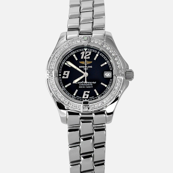 Breitling Colt Oceane Factory Diamond Bezel A57350 Ladies Luxury Watch - NeoFashionStore
