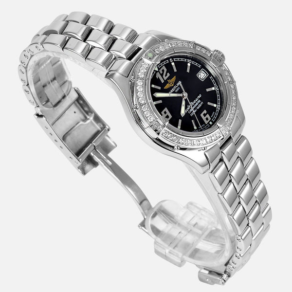 Breitling Colt Oceane Factory Diamond Bezel A57350 Ladies Luxury Watch - NeoFashion Store