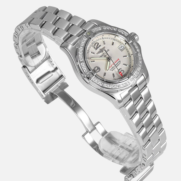 Breitling Colt Oceane Diamond A77380 Bezel Ladies Luxury Watch - NeoFashion Store