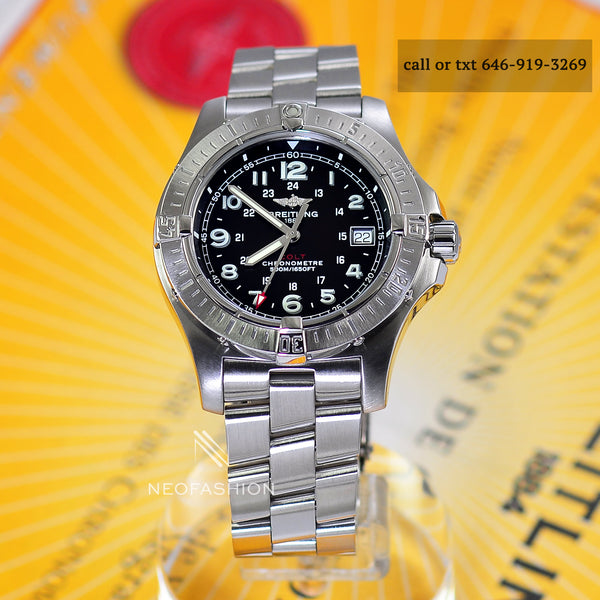 Breitling Colt Chronometer Quartz Black Dial 41mm A74380 - NeoFashionStore