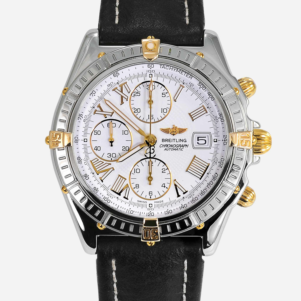 Breitling Crosswind 18K Gold/Stainless Steel White Dial B13055 - NeoFashionStore