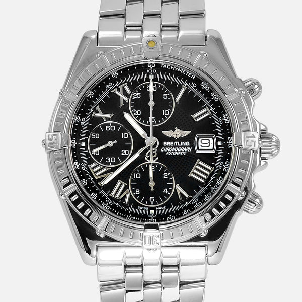 Breitling Crosswind Stainless Steel Black Dial A13055 - NeoFashionStore