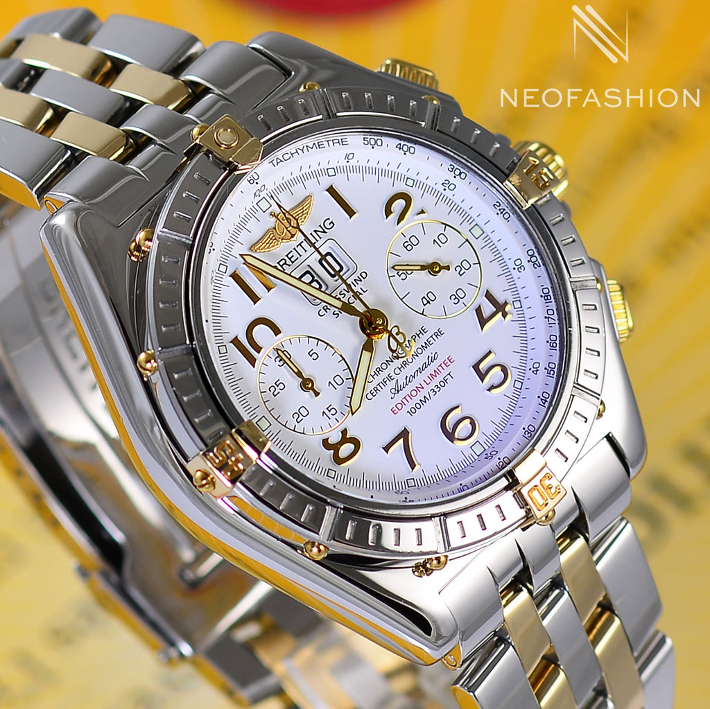 Breitling Crosswind Special Limited Edition 18K Gold/SS Watch B44355 - NeoFashionStore