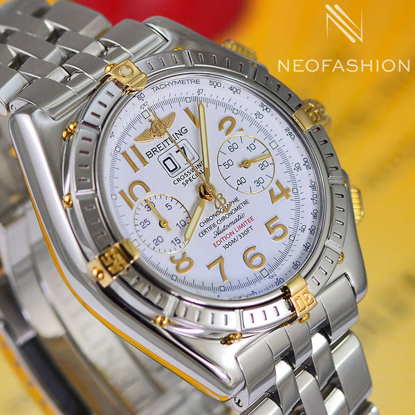 Breitling Crosswind Special Limited Edition 18K Gold/SS Watch B44355