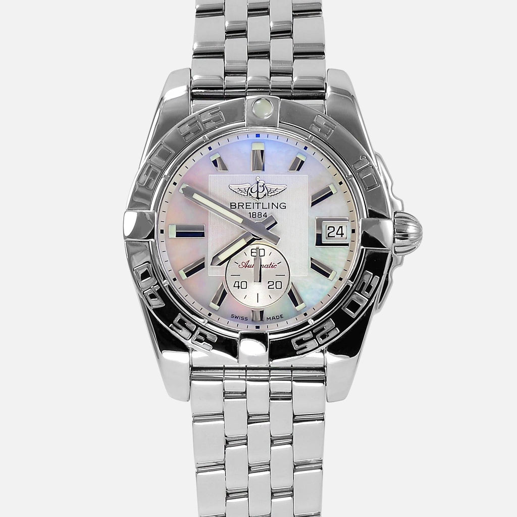 Ladies Breitling Galactic Automatic 36 Pearl Dial A37330 - NeoFashionStore