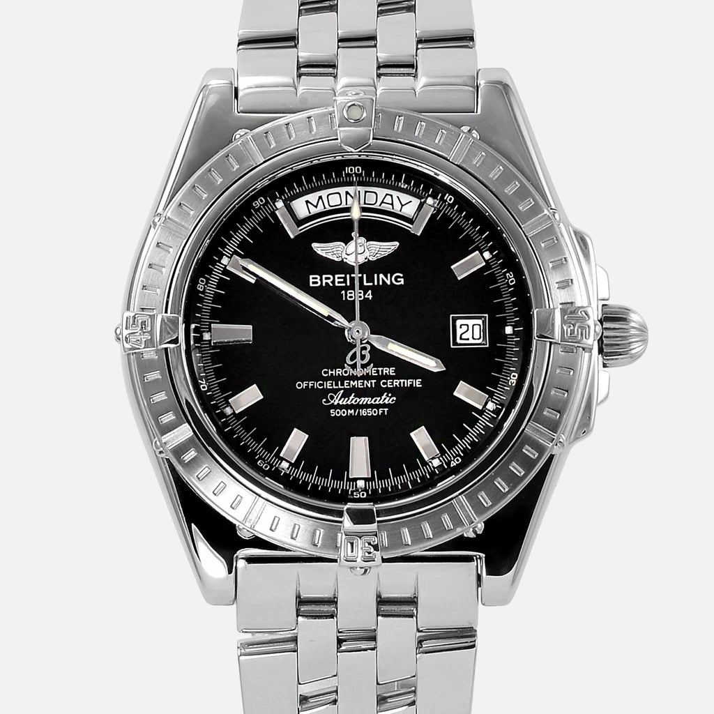 Breitling Headwind Automatic Black Dial Day-Date A45355 - NeoFashionStore