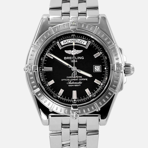 Breitling Headwind Automatic Black Dial Day-Date A45355