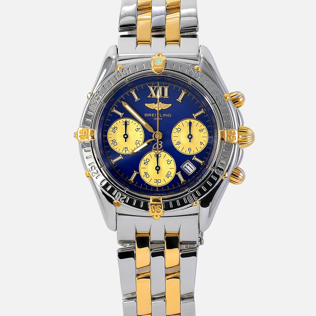 Breitling Jetstream Chronomat 18K Gold/SS Blue Dial B55048 - NeoFashionStore