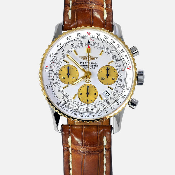 Breitling Navitimer 18K Gold Bezel D23322 Mens Luxury Watch - NeoFashion Store