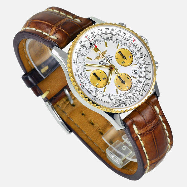 Breitling Navitimer 18K Gold Bezel D23322 Mens Luxury Watch - NeoFashionStore