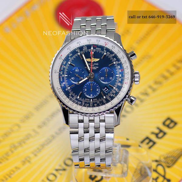 Breitling Navitimer B01 Chronograph 46mm Blue Dial Watch AB0127 - NeoFashionStore