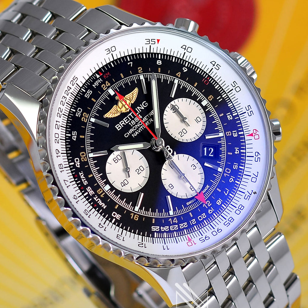 Breitling Navitimer GMT 2nd Time Zone AB0441 Mens 48mm Watch