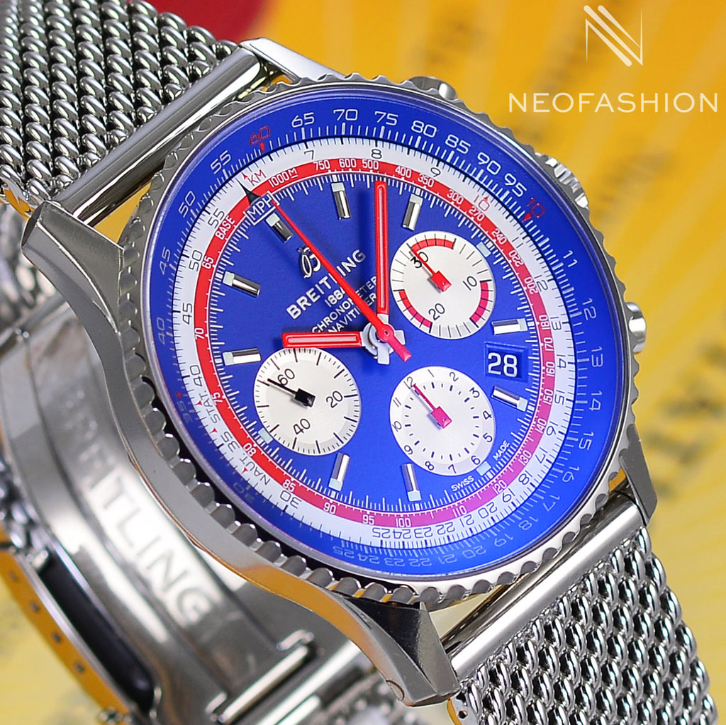 Breitling Navitimer B01 Chronograph 43 PAN AM EDITION AB0121 Watch - NeoFashionStore