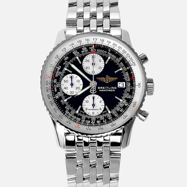 Breitling Old Navitimer II Stainless Steel Black Dial A13322 - NeoFashionStore