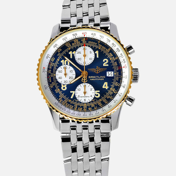 Breitling Old Navitimer II 18K Gold Bezel D13022 Mens Luxury Watch - NeoFashionStore