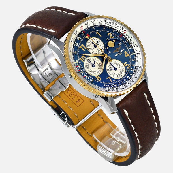 Breitling Navitimer Olympus Perpetual 1461 Limited 250 Edition 18K Gold Bezel D19022 Luxury Watch - NeoFashion Store
