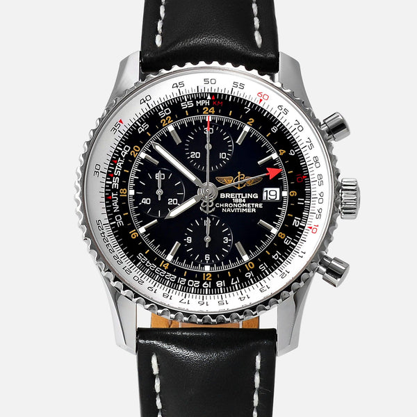 Breitling Navitimer World GMT 2nd Time Zone A23322 Mens Luxury Watch - NeoFashionStore