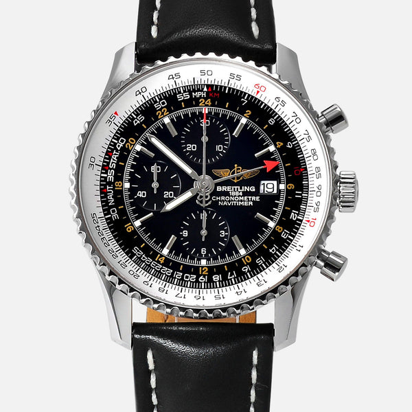 Breitling Navitimer World GMT with 2nd Time Zone A23322 - NeoFashionStore