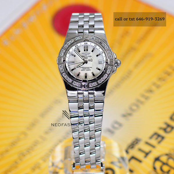 Breitling Starliner Ladies MOP Dial & Diamond Bezel A71340 - NeoFashionStore