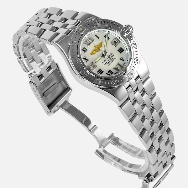 Breitling Starliner Ladies Mother Of Pearl Dial A71340 - NeoFashionStore