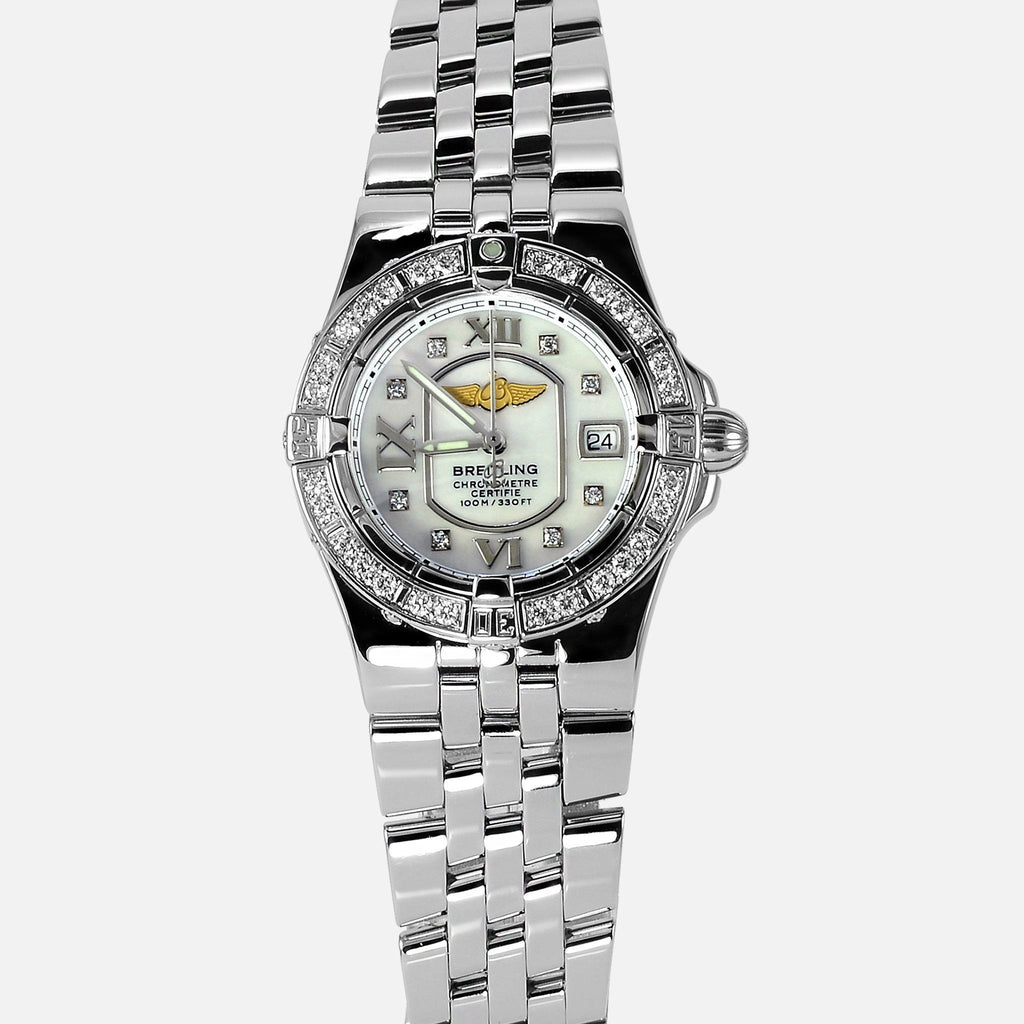 Breitling Starliner Ladies Diamond Bezel MOP A71340 - NeoFashionStore