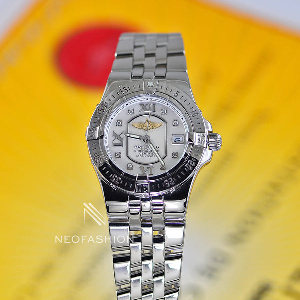 Breitling Starliner Ladies 18K/SS Pink MOP Diamond Dial A71340