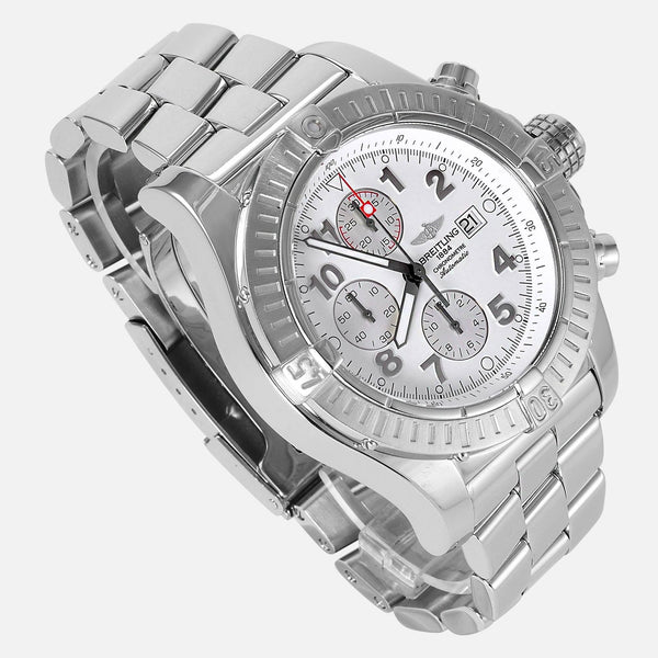 Breitling Super Avenger Chronograph White Dial A13370 - NeoFashionStore