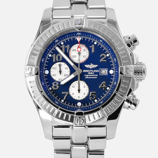 Breitling Super Avenger Chronograph Blue Dial A13370 - NeoFashionStore