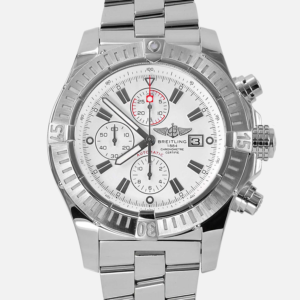 Breitling Super Avenger Chronograph White Dial Pro II A13370 - NeoFashionStore