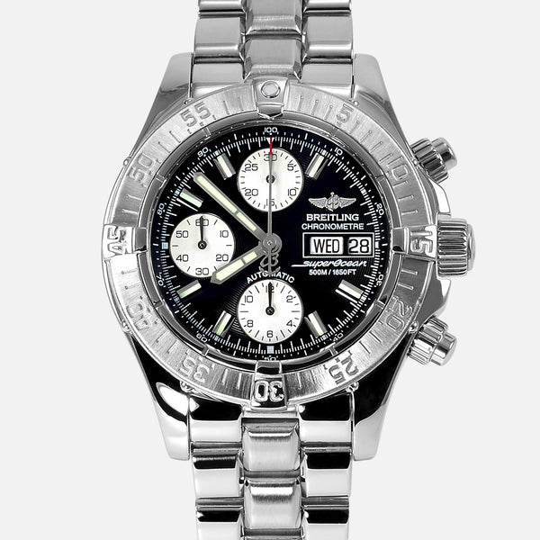 Breitling Superocean Chronograph Black Diver Watch A13340